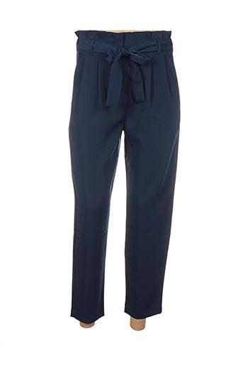 Pantalon 7/8 bleu ANDY & LUCY pour femme