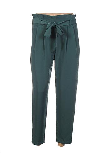 Pantalon 7/8 vert ANDY & LUCY pour femme