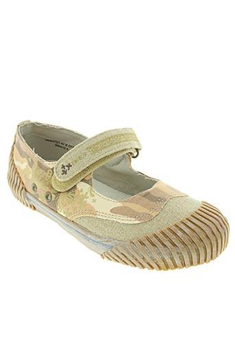 ikks junior chaussures fille de couleur beige