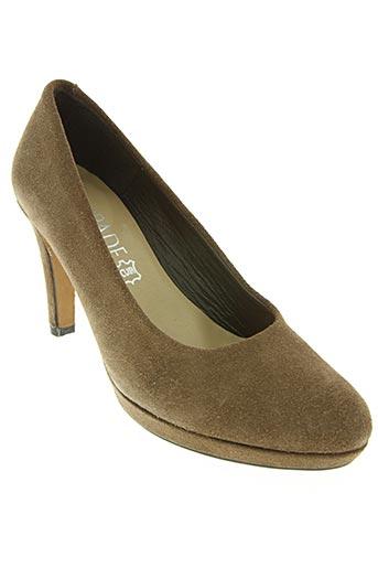 escapade chaussures femme de couleur marron