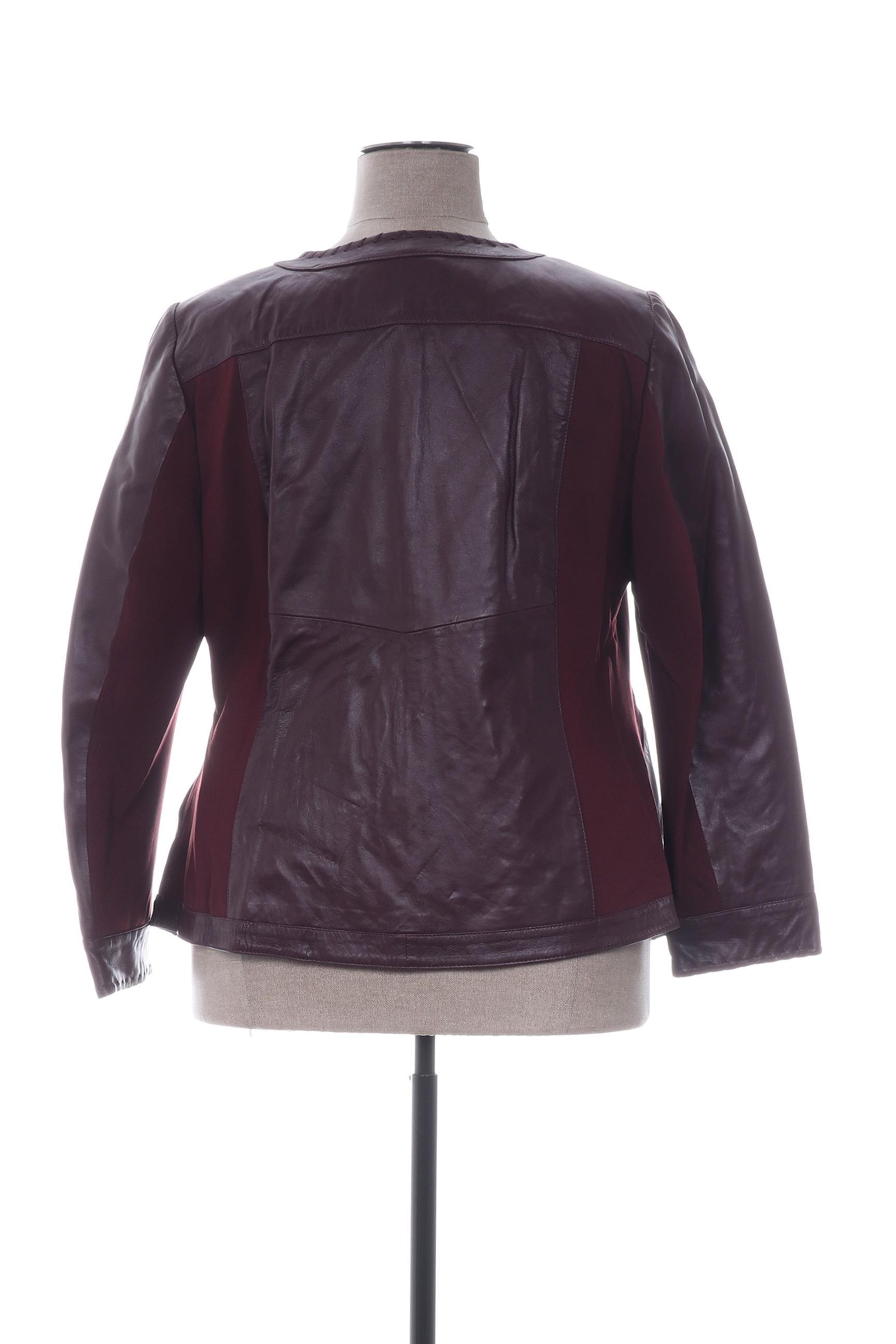 Emilia Lay Vestecuir Femme De Couleur Rouge En Soldes Pas Cher 1299064-rouge0