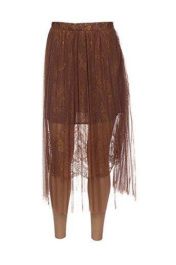 Jupe longue marron CAPSULE pour femme