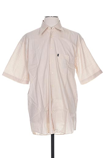 Chemise manches courtes beige DORNBUSCH pour homme