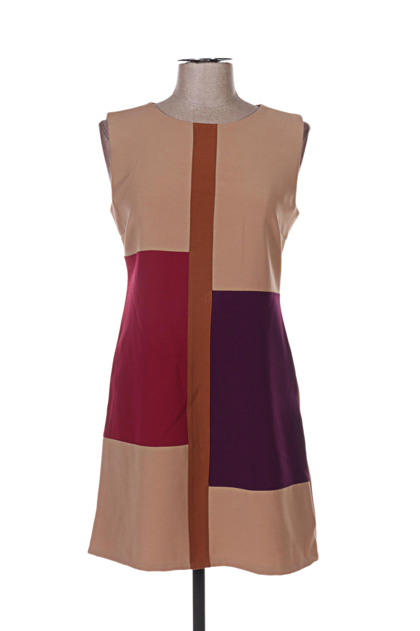 Rinascimento Robes Courtes Femme De Couleur Marron En Soldes Pas Cher 1292017-marron