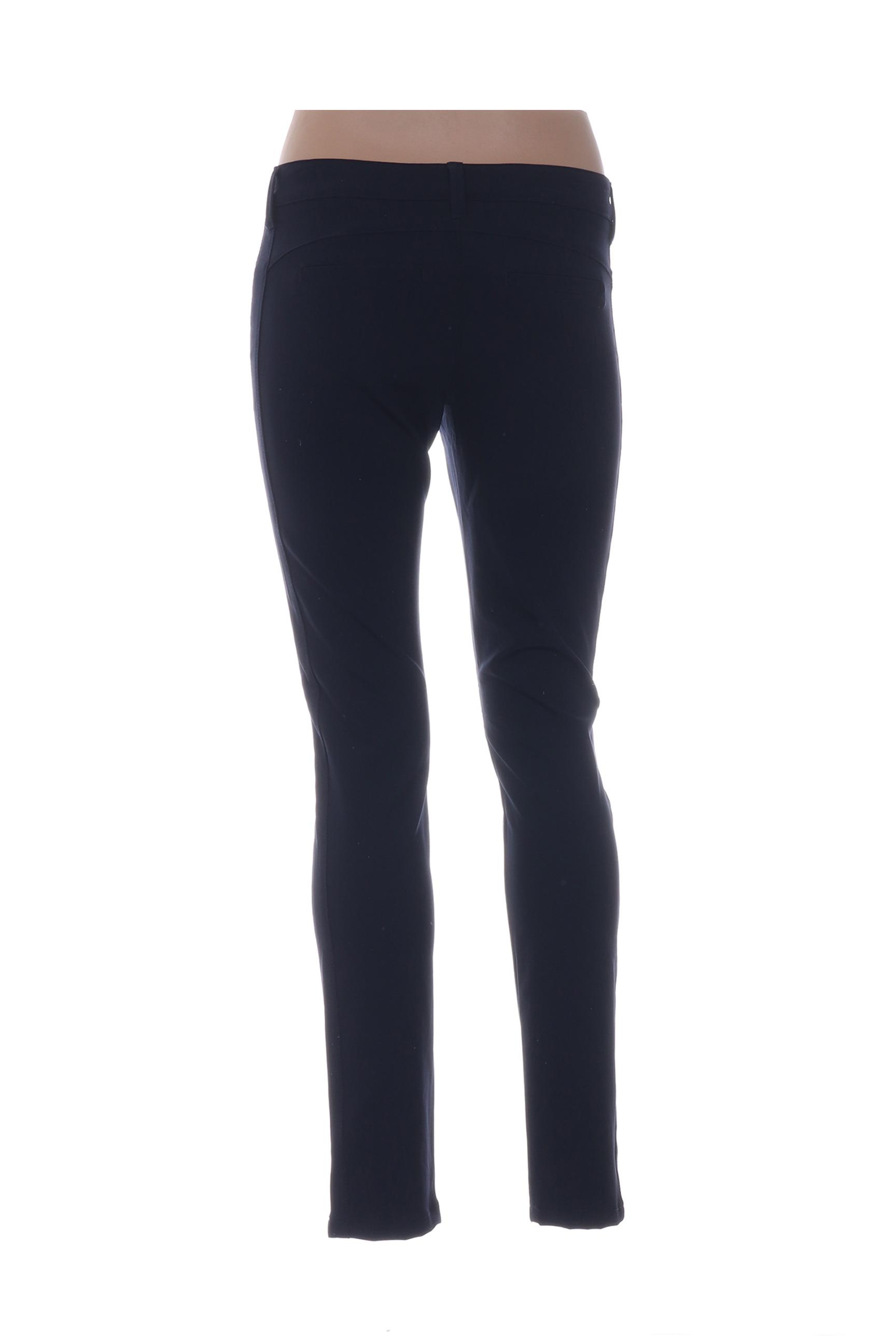 Street One Pantalons Decontractes Femme De Couleur Bleu En Soldes Pas Cher 1291318-bleu00