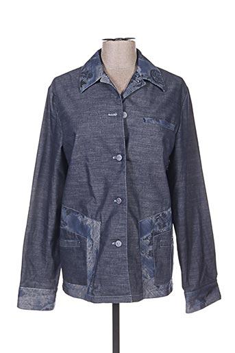 Veste casual bleu UN POINT C EST TOUT pour femme