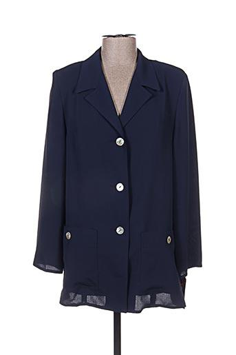 Veste chic / Blazer bleu ALMINA pour femme