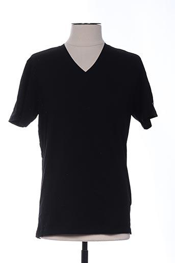T-shirt manches courtes noir GALLIANO pour homme