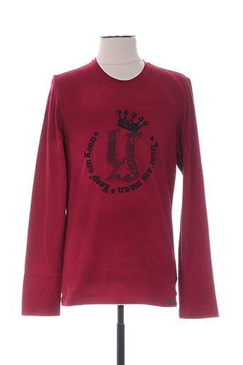 T-shirt manches longues rouge GALLIANO pour homme