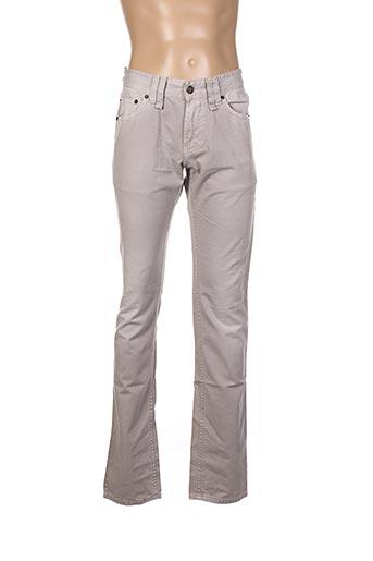 Jeans coupe droite gris GALLIANO pour homme