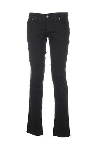 Jeans coupe slim noir GALLIANO pour homme