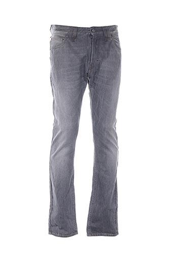 Jeans coupe slim gris GALLIANO pour homme