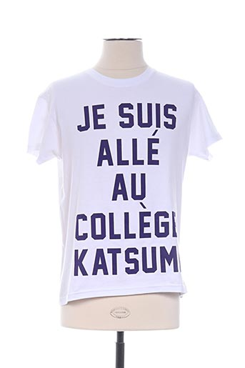 T-shirt manches courtes blanc TWO ANGLE pour homme