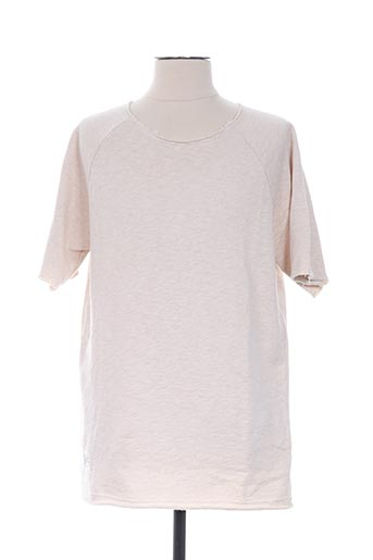 Sweat-shirt beige TWO ANGLE pour homme