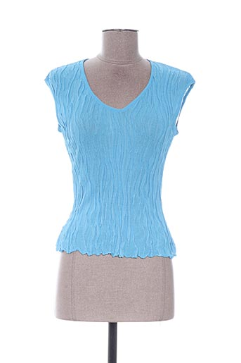 Top bleu EDWIGE pour femme