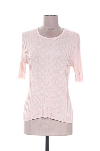 Pull col rond beige EDWIGE pour femme
