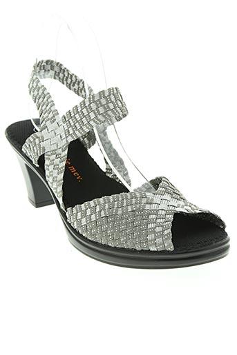 bernie mev chaussures femme de couleur gris