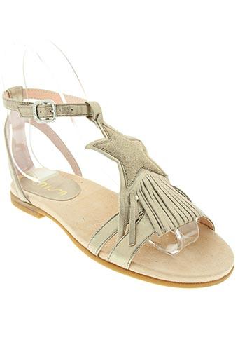 unisa chaussures fille de couleur beige