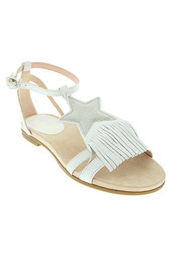 unisa chaussures fille de couleur blanc