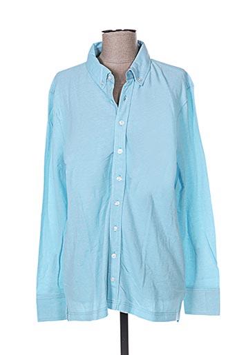 Chemise manches longues bleu FIRENZE pour homme