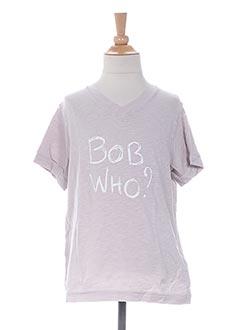 T-shirt manches courtes gris BOB SINCLAR pour garçon