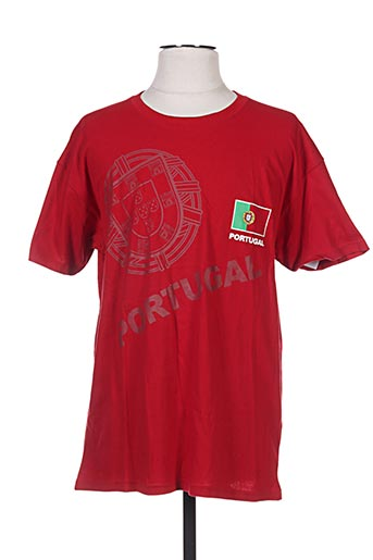 T-shirt manches courtes rouge HOLIPROM pour homme