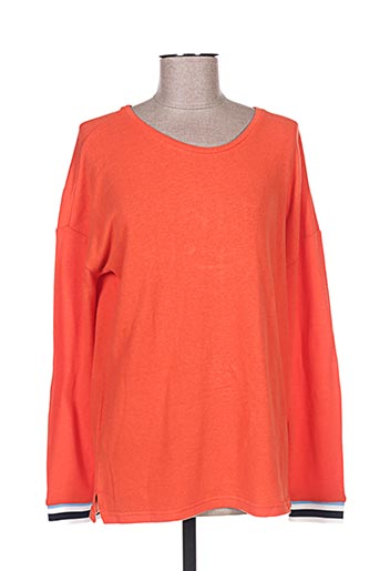 Pull col cheminée orange STREET ONE pour homme