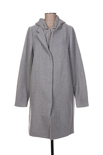 Manteau long gris LITTLE REMIX pour fille