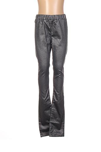 Pantalon casual gris FINGER IN THE NOSE pour fille