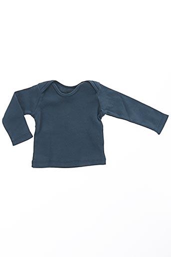 T-shirt manches longues bleu BONTON pour garçon
