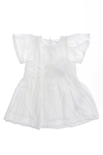 Robe mi-longue blanc CHLOE pour fille