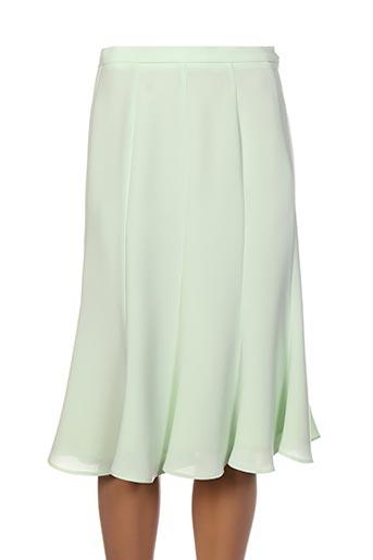 Jupe mi-longue vert ALOUETTE pour femme