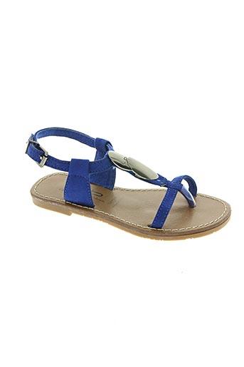 les p'tites bombes chaussures fille de couleur bleu