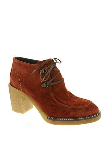 alpe chaussures femme de couleur orange