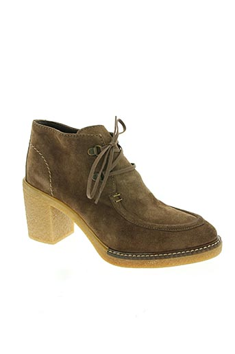 alpe chaussures femme de couleur marron