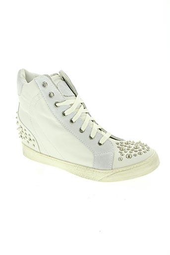 victor lelli chaussures femme de couleur blanc