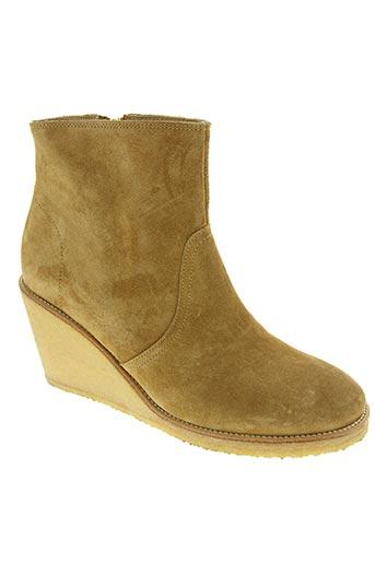 a.p.c. chaussures femme de couleur beige