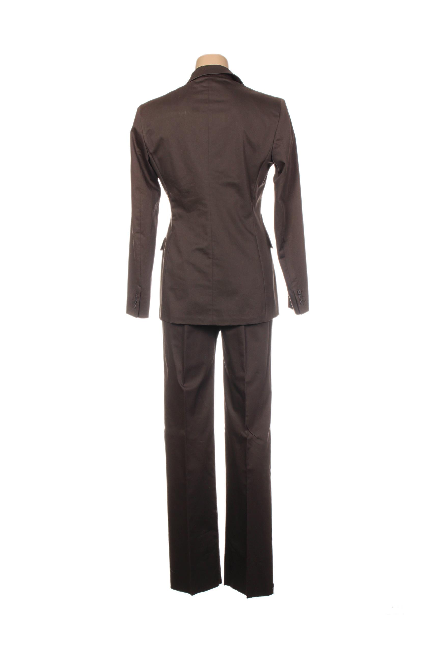 Maxmara Pantalon Veste Femme De Couleur Marron En Soldes Pas Cher 1290439-marron