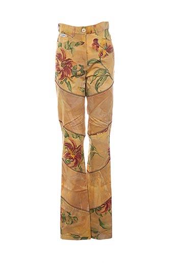 Pantalon casual jaune CHRISTIAN LLINARES JEANS pour femme
