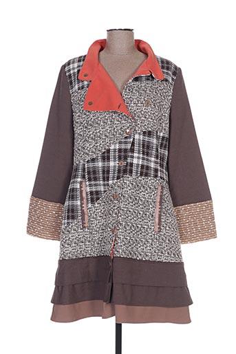 Manteau long marron ALL BEAUTIFUL pour femme