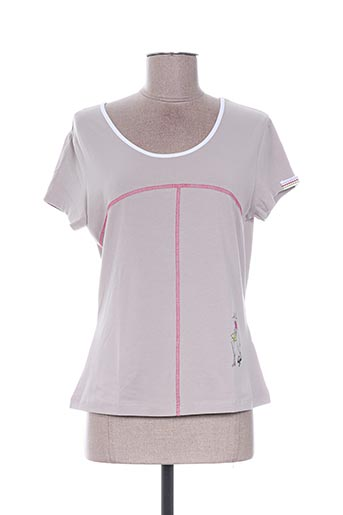 T-shirt manches courtes beige ALL BEAUTIFUL pour femme