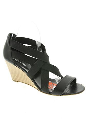 via ulivi chaussures femme de couleur noir