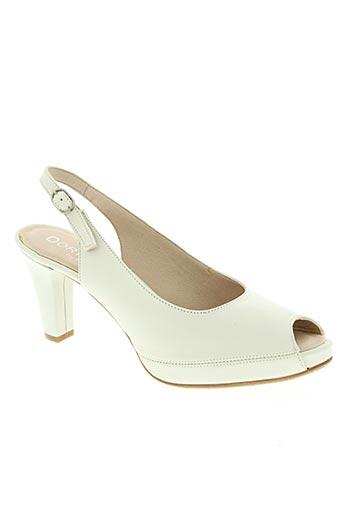 dorking chaussures femme de couleur blanc