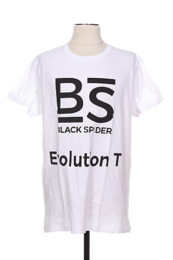 T-shirt manches courtes blanc BLACK SPIDER pour homme