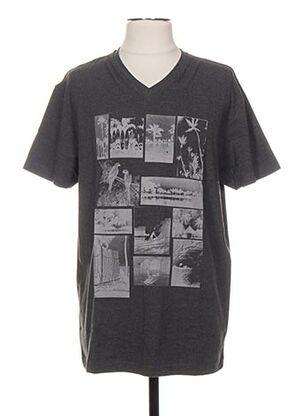 T-shirt manches courtes gris ENGINE pour homme
