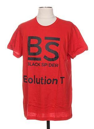 T-shirt manches courtes rouge BLACK SPIDER pour homme
