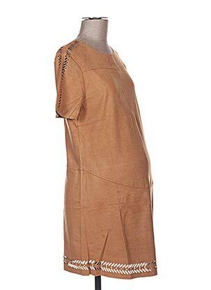 Robe courte marron COLLINE pour femme