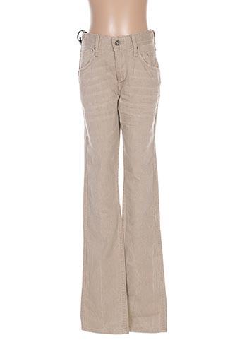 Jeans coupe slim beige TEDDY SMITH pour garçon
