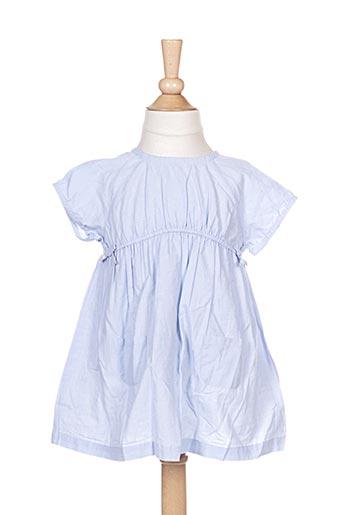 Robe mi-longue bleu CYRILLUS pour fille