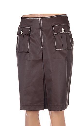 Jupe mi-longue gris ICONOCLAST pour femme